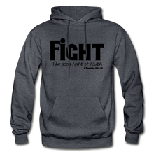 Load image into Gallery viewer, FIGHT-BIG & TALL Heavy Blend Adult Hoodie - charcoal gray