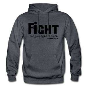 FIGHT-BIG & TALL Heavy Blend Adult Hoodie - charcoal gray