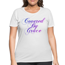 Load image into Gallery viewer, COVERED BY GRACE-Women's Curvy T-Shirt - white