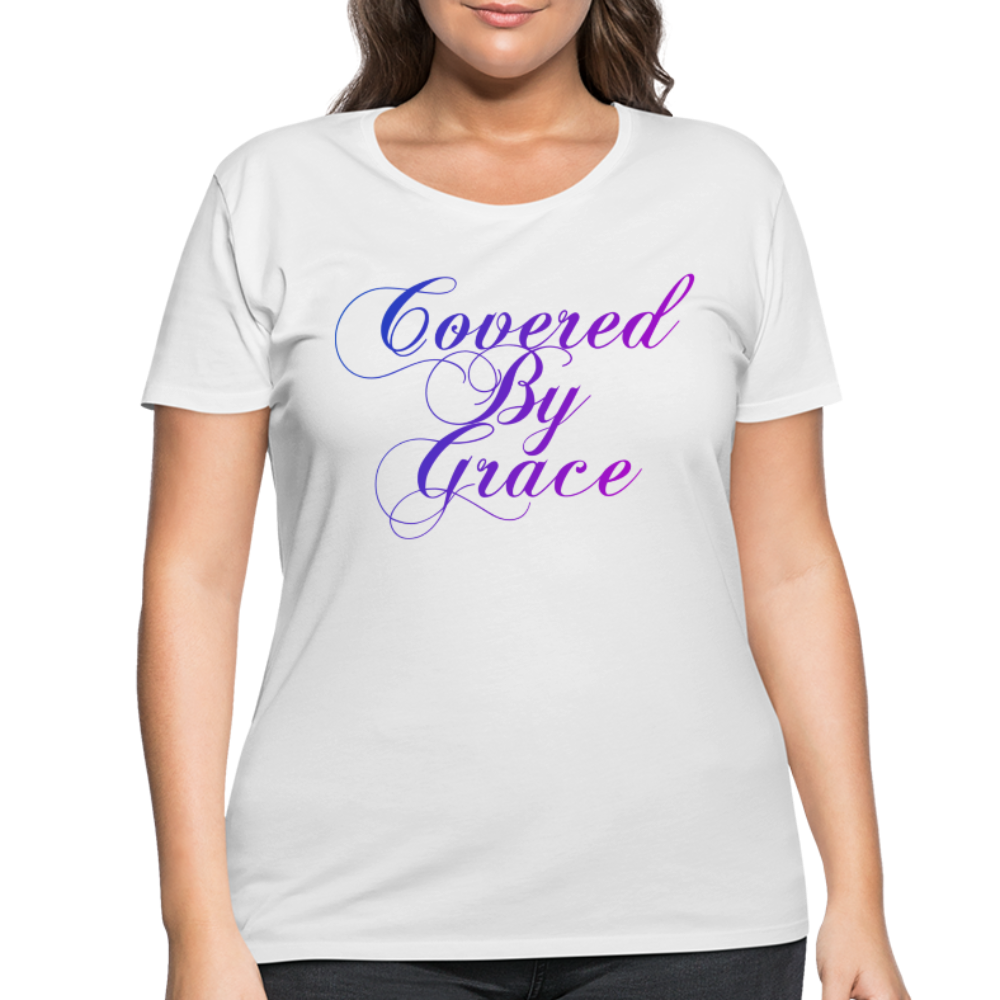 COVERED BY GRACE-Women's Curvy T-Shirt - white
