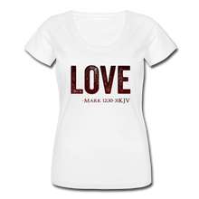 Load image into Gallery viewer, LOVE-Women's Scoop Neck T-Shirt - white