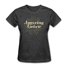 Load image into Gallery viewer, AMAZING GRACE-Women's T-Shirt - heather black