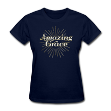 Load image into Gallery viewer, AMAZING GRACE-Women's T-Shirt - navy