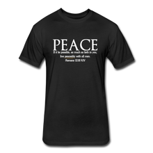 Load image into Gallery viewer, PEACE-Fitted Cotton/Poly T-Shirt by Next Level - black