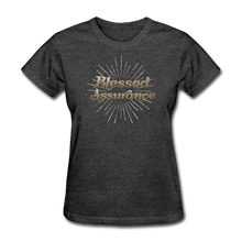 Load image into Gallery viewer, BLESSED ASSURANCE-Women's T-Shirt - heather black