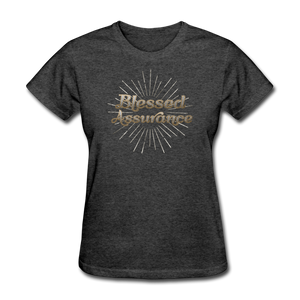 BLESSED ASSURANCE-Women's T-Shirt - heather black