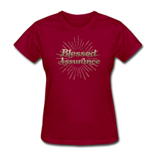 Load image into Gallery viewer, BLESSED ASSURANCE-Women's T-Shirt - dark red