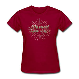 BLESSED ASSURANCE-Women's T-Shirt - dark red