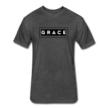 Load image into Gallery viewer, GRACE-MEN'S Fitted Cotton/Poly T-Shirt by Next Level - heather black