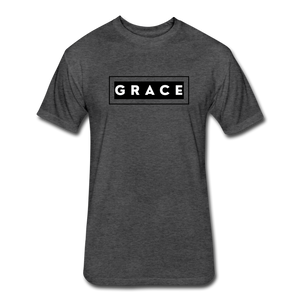 GRACE-MEN'S Fitted Cotton/Poly T-Shirt by Next Level - heather black