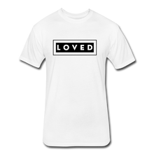 Load image into Gallery viewer, LOVED MEN'S-Fitted Cotton/Poly T-Shirt by Next Level - white