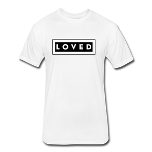 LOVED MEN'S-Fitted Cotton/Poly T-Shirt by Next Level - white
