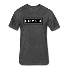 Load image into Gallery viewer, LOVED MEN'S-Fitted Cotton/Poly T-Shirt by Next Level - heather black