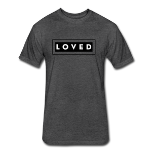 LOVED MEN'S-Fitted Cotton/Poly T-Shirt by Next Level - heather black