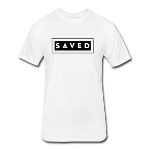 SAVED-MEN'S Fitted Cotton/Poly T-Shirt by Next Level - white