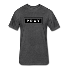 Load image into Gallery viewer, PRAY-MEN'S Fitted Cotton/Poly T-Shirt by Next Level - heather black