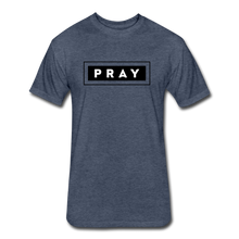Load image into Gallery viewer, PRAY-MEN'S Fitted Cotton/Poly T-Shirt by Next Level - heather navy