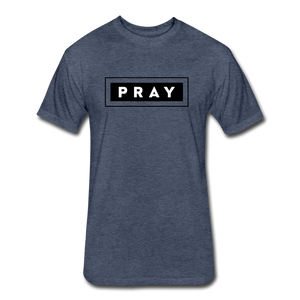 PRAY-MEN'S Fitted Cotton/Poly T-Shirt by Next Level - heather navy