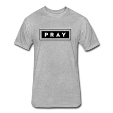 Load image into Gallery viewer, PRAY-MEN'S Fitted Cotton/Poly T-Shirt by Next Level - heather gray