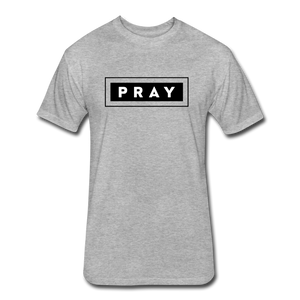 PRAY-MEN'S Fitted Cotton/Poly T-Shirt by Next Level - heather gray