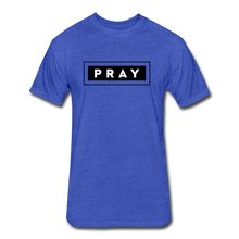 Load image into Gallery viewer, PRAY-MEN'S Fitted Cotton/Poly T-Shirt by Next Level - heather royal