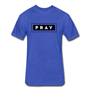 PRAY-MEN'S Fitted Cotton/Poly T-Shirt by Next Level - heather royal