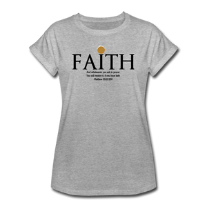 FAITH-Women's Relaxed Fit T-Shirt - heather gray