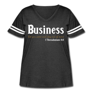 Business Premium Women's Curvy Vintage Sport T-Shirt - vintage smoke/white