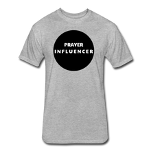 Load image into Gallery viewer, PRAYER INFLUENCER-MEN'S Fitted Cotton/Poly T-Shirt by Next Level - heather gray