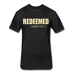 REDEEMED Men's Fitted Cotton/Poly T-Shirt - black
