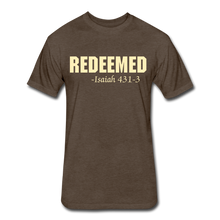 Load image into Gallery viewer, REDEEMED Men's Fitted Cotton/Poly T-Shirt - heather espresso