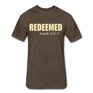 REDEEMED Men's Fitted Cotton/Poly T-Shirt - heather espresso