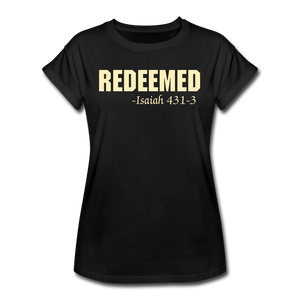 REDEEMED-Women's Relaxed Fit T-Shirt - black