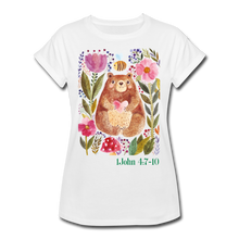 Load image into Gallery viewer, Beary Love-Women's Relaxed Fit T-Shirt - white