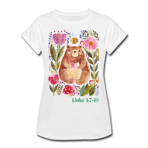 Beary Love-Women's Relaxed Fit T-Shirt - white