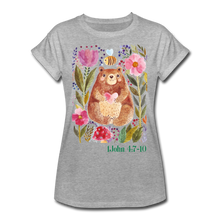 Load image into Gallery viewer, Beary Love-Women's Relaxed Fit T-Shirt - heather gray