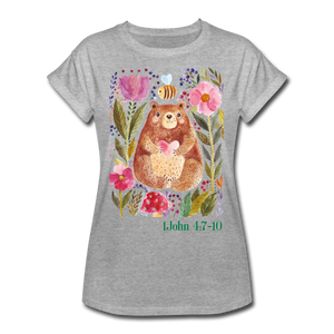 Beary Love-Women's Relaxed Fit T-Shirt - heather gray