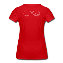 Load image into Gallery viewer, HIGHER-Women's Premium T-Shirt - red
