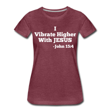 Load image into Gallery viewer, HIGHER-Women's Premium T-Shirt - heather burgundy