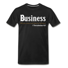 Load image into Gallery viewer, Business-Big & Tall Men's Premium T-Shirt SZ up to 5X - black