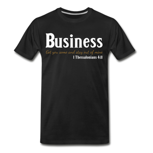 Business-Big & Tall Men's Premium T-Shirt SZ up to 5X - black