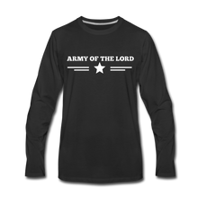 Load image into Gallery viewer, ARMY- Men's Long Sleeve T-Shirt - black