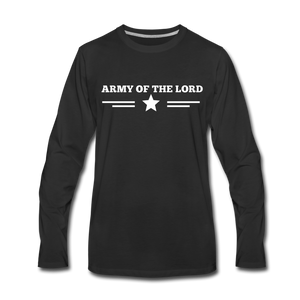 ARMY- Men's Long Sleeve T-Shirt - black