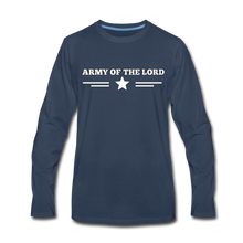 Load image into Gallery viewer, ARMY- Men's Long Sleeve T-Shirt - navy