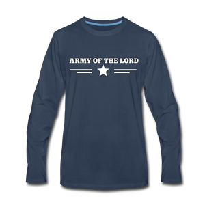ARMY- Men's Long Sleeve T-Shirt - navy