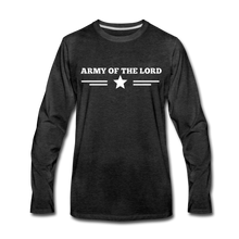Load image into Gallery viewer, ARMY- Men's Long Sleeve T-Shirt - charcoal gray