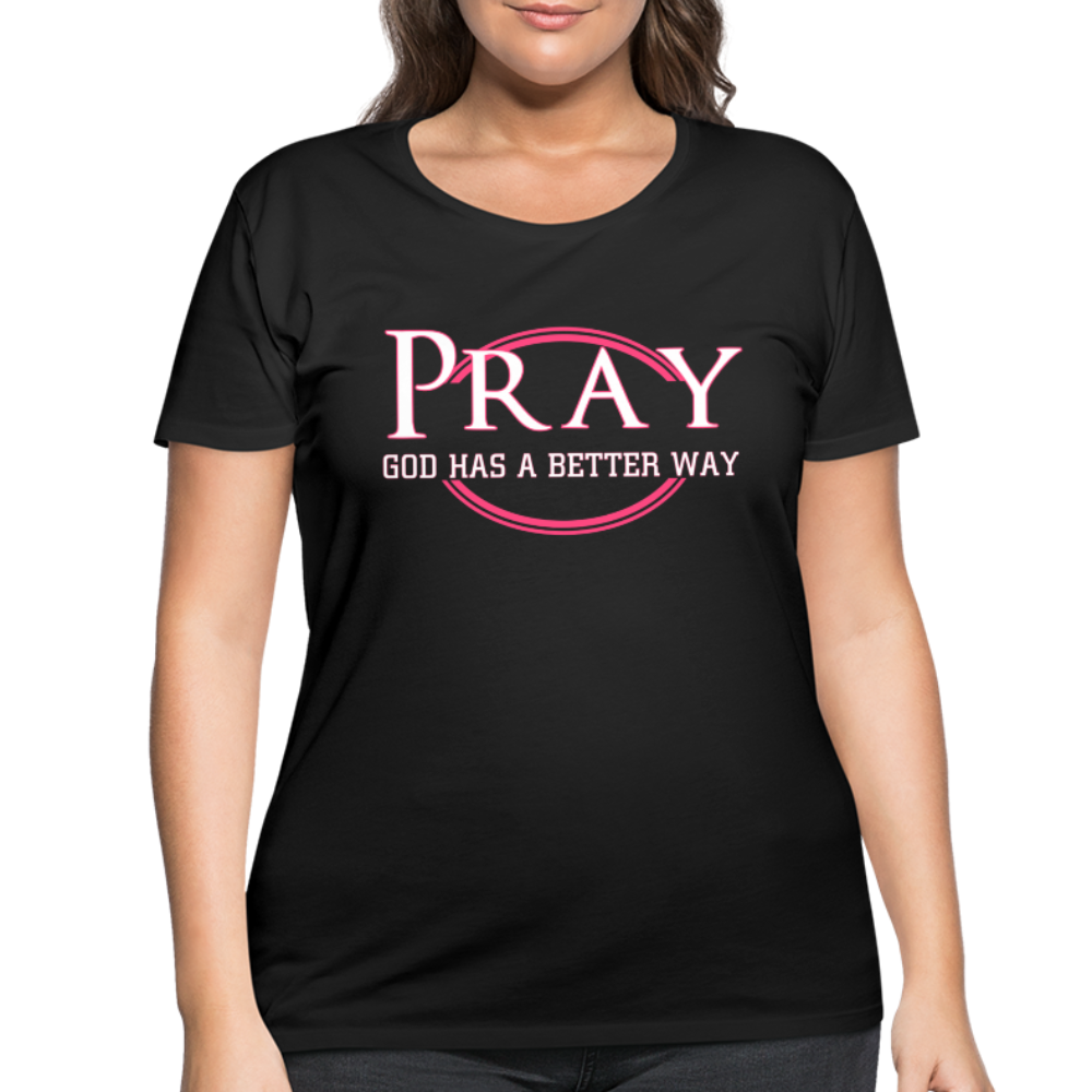 PRAY-Premium Women's Curvy T-Shirt - black