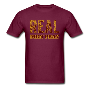 REAL MEN-Ultra Cotton Adult T-Shirt - burgundy