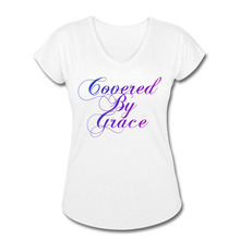 Load image into Gallery viewer, COVERED BY GRACE -WOMEN'S Ultra Cotton Ladies T-Shirt - white