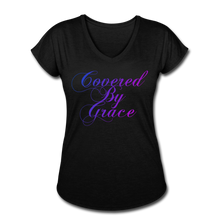 Load image into Gallery viewer, COVERED BY GRACE -WOMEN'S Ultra Cotton Ladies T-Shirt - black